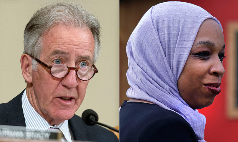Rep. Richard Neal and his Democratic challenger, Tahirah Amatul-Wadud (AP)