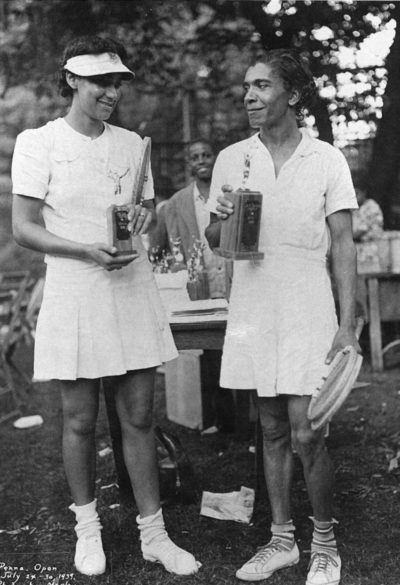 Ora Washington played championship tennis from 1925 to 1947. (Courtesy Philadelphia Tribune/John W. Mosley Photograph Collection, Temple University Libraries)