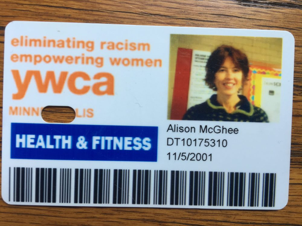 Alison McGhee has been a regular at the Uptown YWCA in Minneapolis.