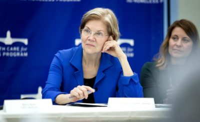 Sen. Elizabeth Warren (Robin Lubbock/WBUR)