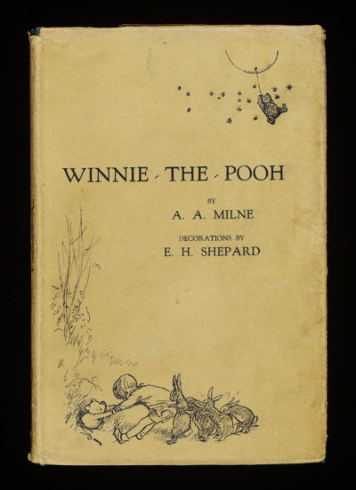 "The first edition of ""Winnie‑the‑Pooh"" from 1924. (Courtesy Victoria and Albert Museum, London; Museum of Fine Arts, Boston)"