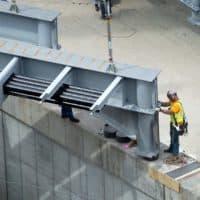 A construction worker (Robin Lubbock/WBUR)