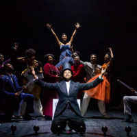 """The cast of """"The Black Clown"""" at the American Repertory Theater. (Courtesy Maggie Hall/A.R.T.)"""