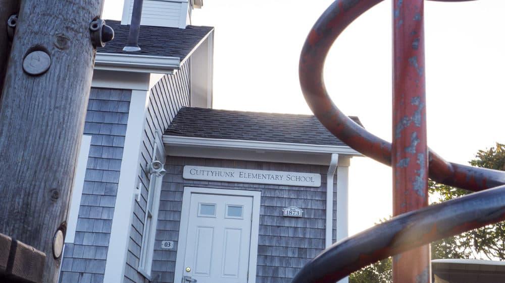 The Cuttyhunk Elementary schoolhouse dates back to 1873. (Max Larkin/WBUR)
