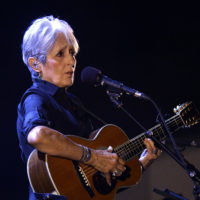 Joan Baez performs on stage during a concert on July 25, 2018 in Vienna, Austria. (Herbert Pfarrhofer/AFP/Getty Images)