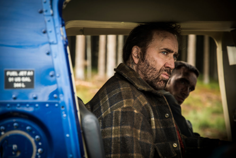 """Nicholas Cage as Red in """"Mandy."""" (Courtesy RLJE Films)"""