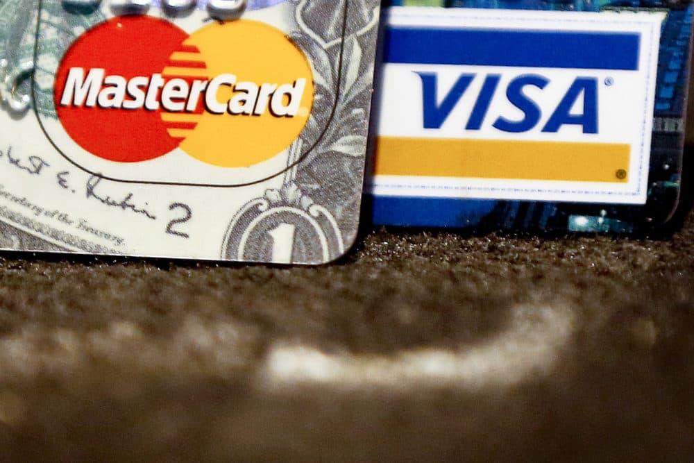 Master Card and Visa logos on credit cards. (Keith Srakocic/AP)