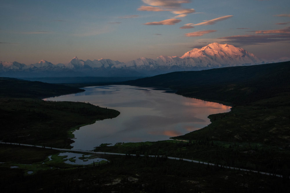 Sunrise in Alaska's Denali National Preserve, as seen from north of Wonder Lake. (Mary Lewandowski/NPS)