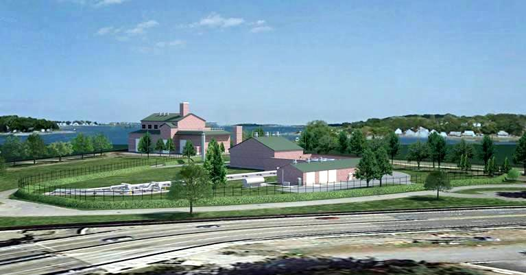 A rendering of the proposed Weymouth compressor (Courtesy of Enbridge)