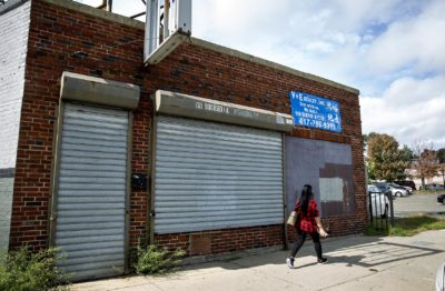 The building at 1325 Dorchester Ave. in Boston where TRC Auto Electric used to operate. (Robin Lubbock/WBUR)