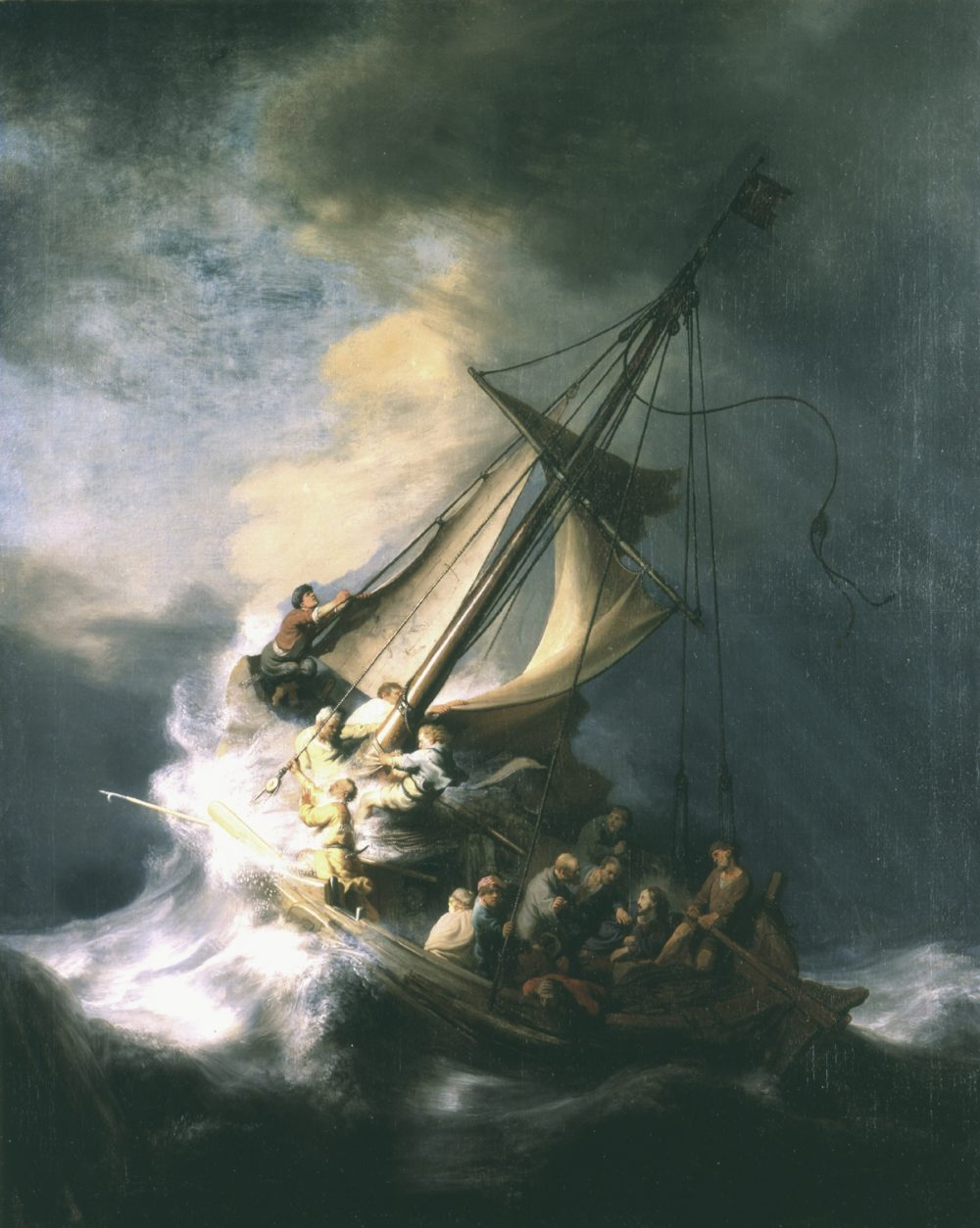 Christ In The Storm On The Sea Of Galilee By Rembrandt Van