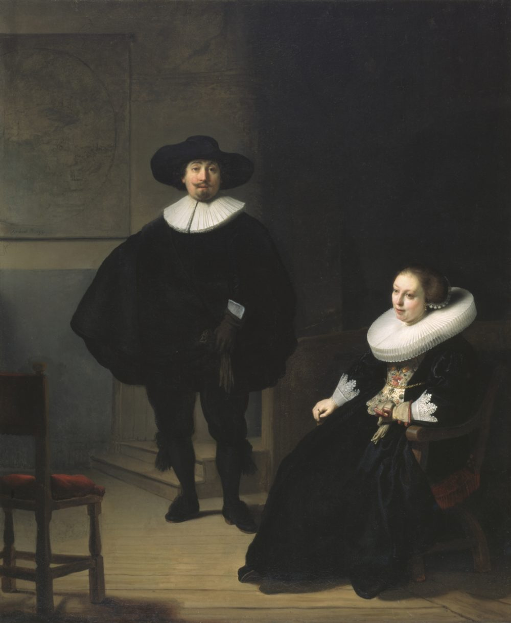"Rembrandt van Rijn's ""A Lady And Gentleman In Black,"" painted in 1633. Oil on canvas, 131.6 x 109 cm (51 13/16 x 42 15/16 in.) (Courtesy Isabella Stewart Gardner Museum)"