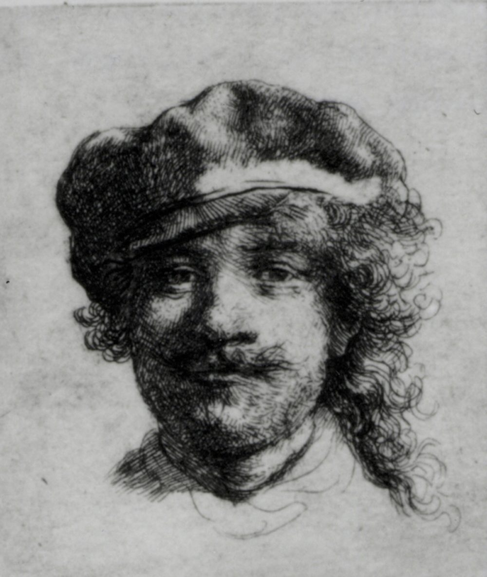 "Rembrandt van Rijn's self-portrait titled ""Portrait Of The Artist As A Young Man,"" painted in 1633. Ink on paper, 4.5 x 5 cm (1 3/4 x 1 15/16 in.) (Courtesy Isabella Stewart Gardner Museum)"