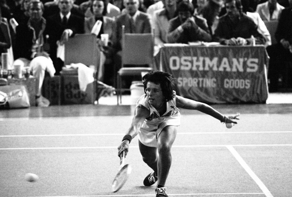 Billie Jean King defeated Bobby Riggs in the 1973 Battle of the Sexes. (AP)