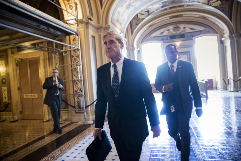In this Wednesday, June 21, 2017 file photo, special counsel Robert Mueller departs the Capitol after a closed-door meeting with members of the Senate Judiciary Committee about Russian meddling in the election and possible connection to the Trump campaign, in Washington. (J. Scott Applewhite/AP)