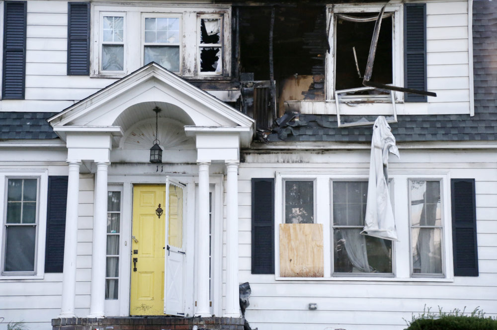A house on Herrick Road in North Andover is seen Friday. (Mary Schwalm/AP)