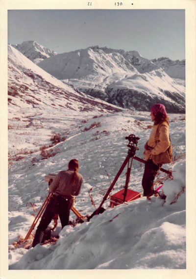 Janis Stoner worked as a land surveyor in Alaska for six years. She was the only woman. (Courtesy Janis Stoner)