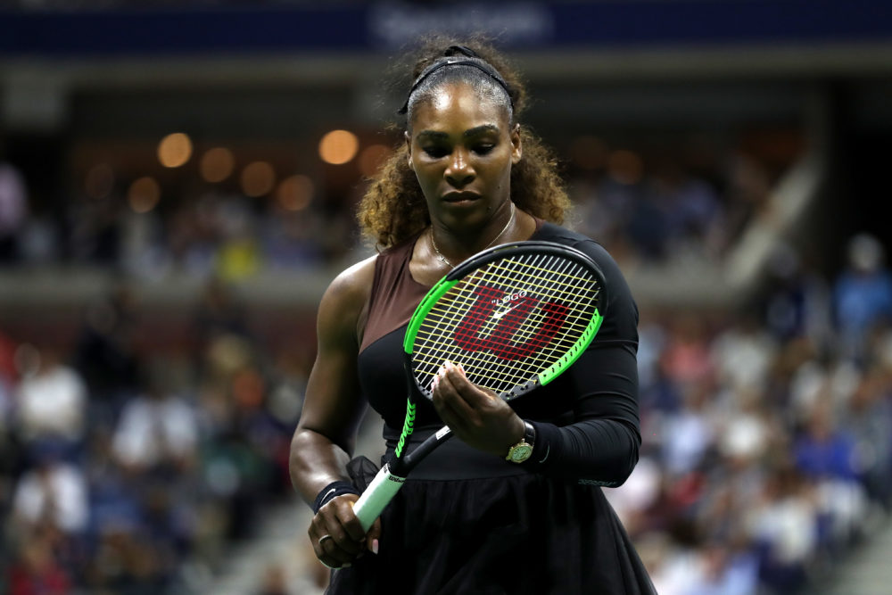 Serena Williams lost 6–2, 6–4 in a controversial US Open final last weekend. (Matthew Stockman/Getty Images)