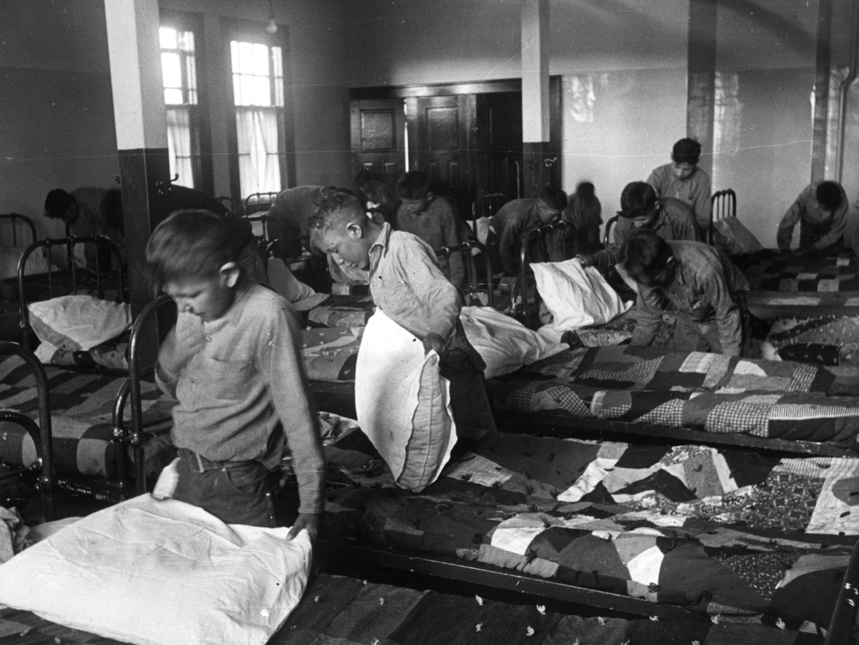 Students in Indian residential schools were often subjected to abuse. (Hulton Archive/Getty Images)