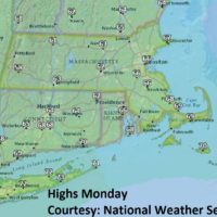 The highs on Monday, Sept. 10.