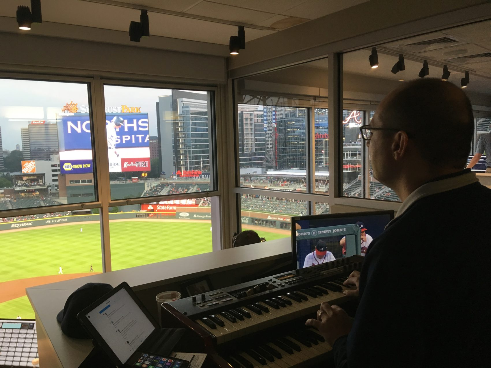 Matthew has been the Braves' organist for nearly 10 years. (Maya Kroth)