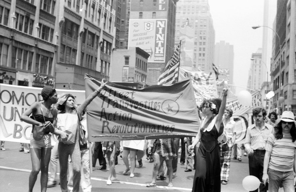 The original photograph of the Christopher Street March that inspired Tuesday Smillie's artwork (Courtesy Rich Wandel/LGBT Community Center National History Archive)