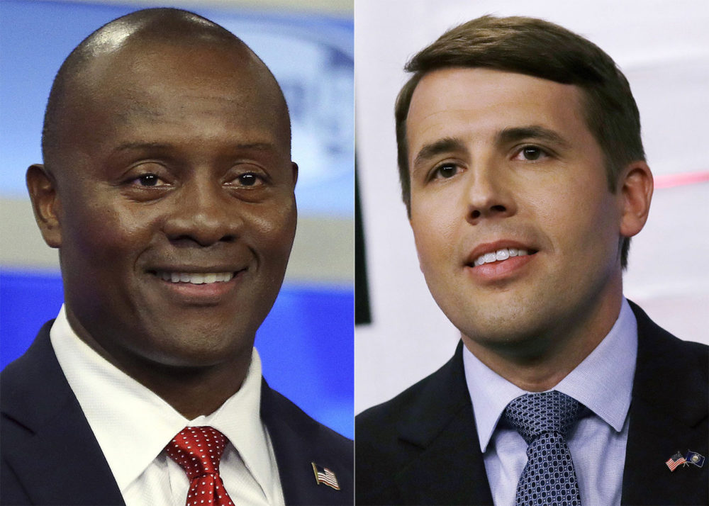 New Hampshire 1st district: Republican nominee Eddie Edwards, left, and Democratic nominee Chris Pappas (Elise Amendola and Charles Krupa/AP