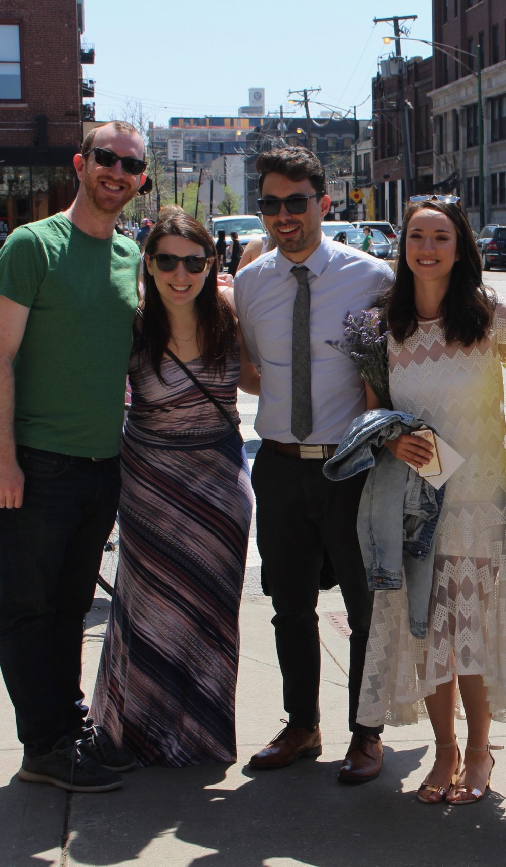Kevin and Marina with their partners, Sam and Annie