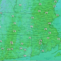 Highs today will reach the 70s. (Courtesy NOAA)