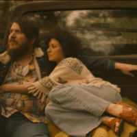 "Ben Dickey as Blaze Foley and Alia Shawkat as Sybil Rosen in Ethan Hawke's ""Blaze."" (Courtesy of IFC Films)"