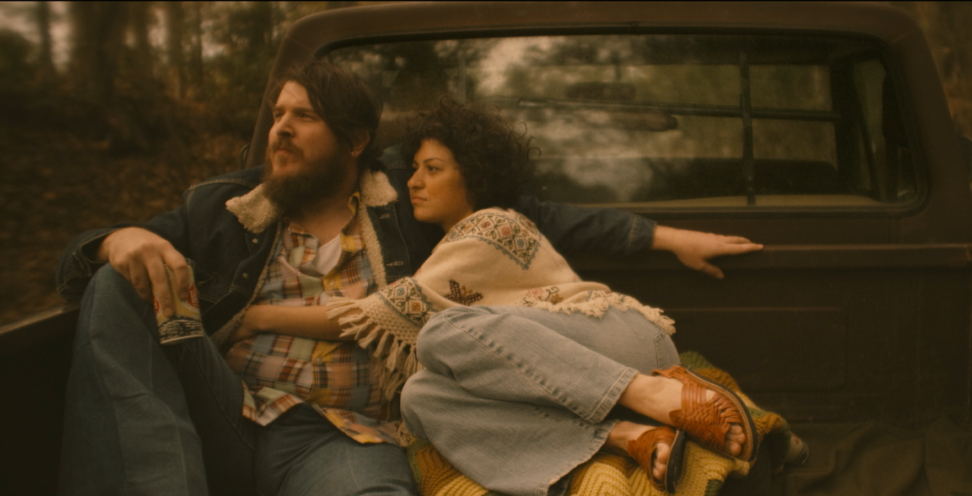 "Ben Dickey as Blaze Foley and Alia Shawkat as Sybil Rosen in Ethan Hawke's ""Blaze."" (Courtesy of IFC Films)"