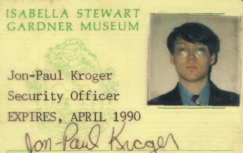 Jon-Paul Kroger's museum ID from 1990. (Courtesy Jon-Paul Kroger)
