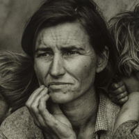 "Dorothea Lange's ""Migrant Mother, Nipomo, California,"" taken in 1936. (Courtesy The Howard Greenberg Collection, MFA Boston)"