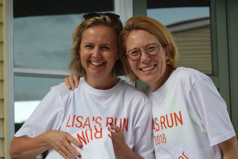 In March, Caroline Steer (left) and Vanessa Oshima (right) ran in honor of a high school classmate who died of leukemia. (Courtesy Vanessa Oshima)