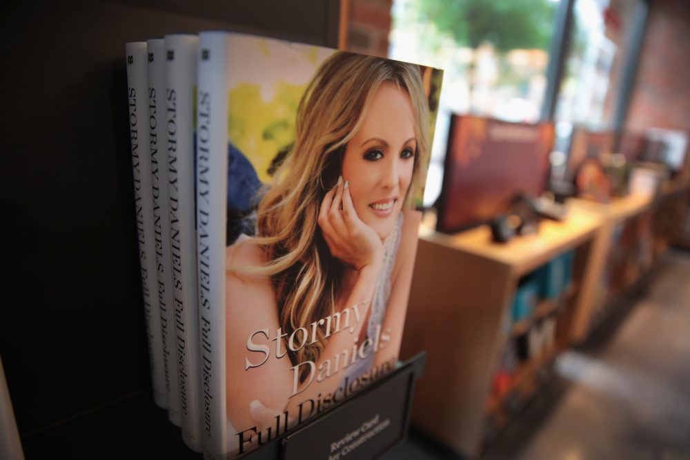 "Stormy Daniels' memoir ""Full Disclosure"" for sale at an Amazon Books store on Oct. 2, 2018 in Chicago. (Scott Olson/Getty Images)"