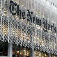 The New York Times building in New York. (Richard Drew/AP)