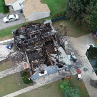 An aerial view of a home that was burned down in the natural gas explosions. (Courtesy National Transportation Safety Board)