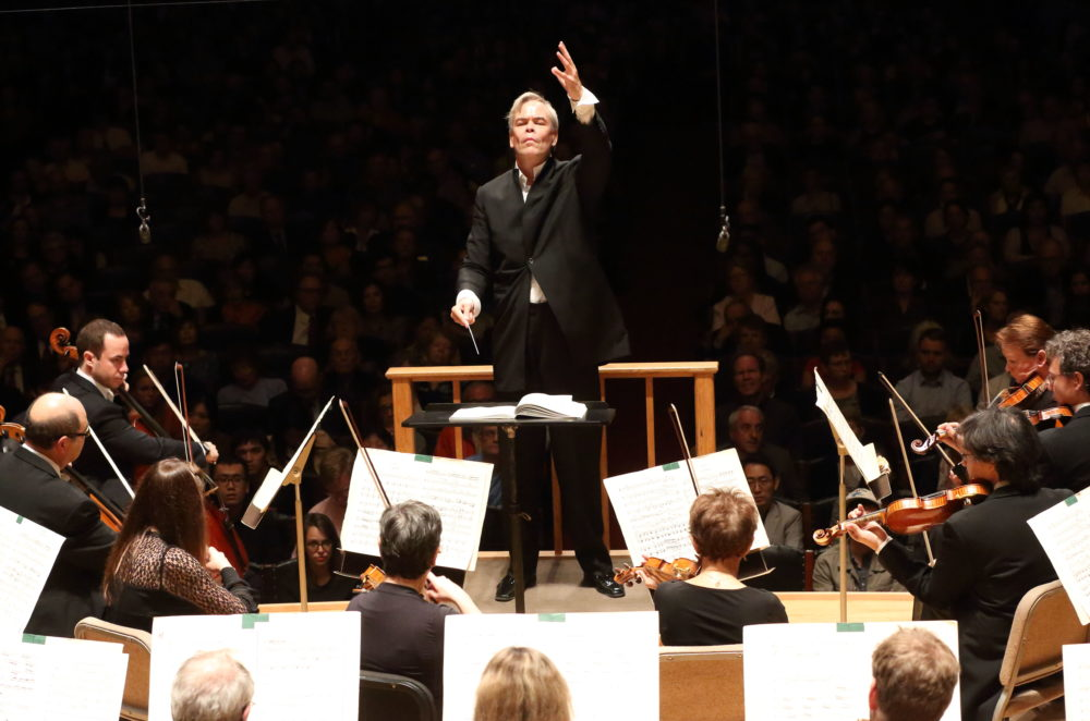 Hannu Lintu led the BSO in the opening night concert Thursday, Oct. 11. (Courtesy Hilary Scott)