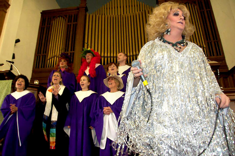 Drag queens worship at First Church Somerville UCC (Courtesy First Church Somerville UCC)