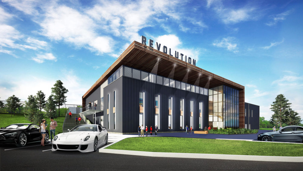 An artist's rendering shows one of the new Revolution Training Facility buildings. (New England Revolution)