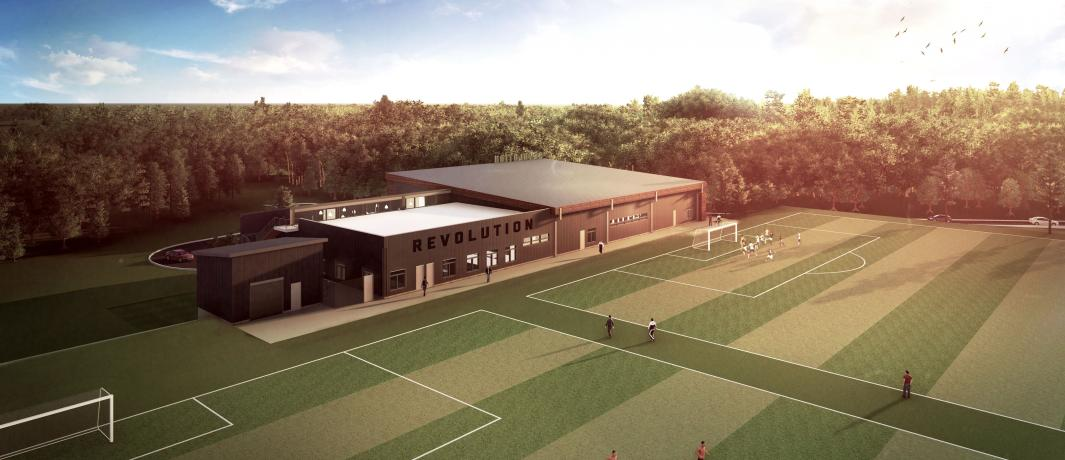 An artist's rendering of the new Revolution Training Center. (New England Revolution)