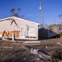 A home damaged by Hurricane Michael in Gulf County, Fla. (Chris Bentley/Here & Now)