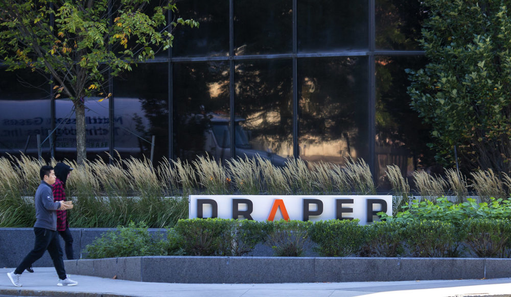 Draper Laboratory in Kendall Square, Cambridge. (Jesse Costa/WBUR)