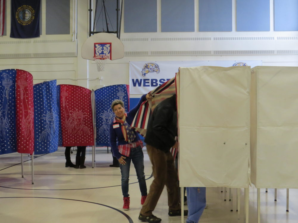 A polling place in New Hampshire is shown. (Dan Tuohy/NHPR)