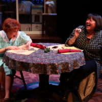 """Paula Plum and Adrianne Krstansky in """"The Roommate."""" (Courtesy Mark S. Howard/Lyric Stage Company)"""