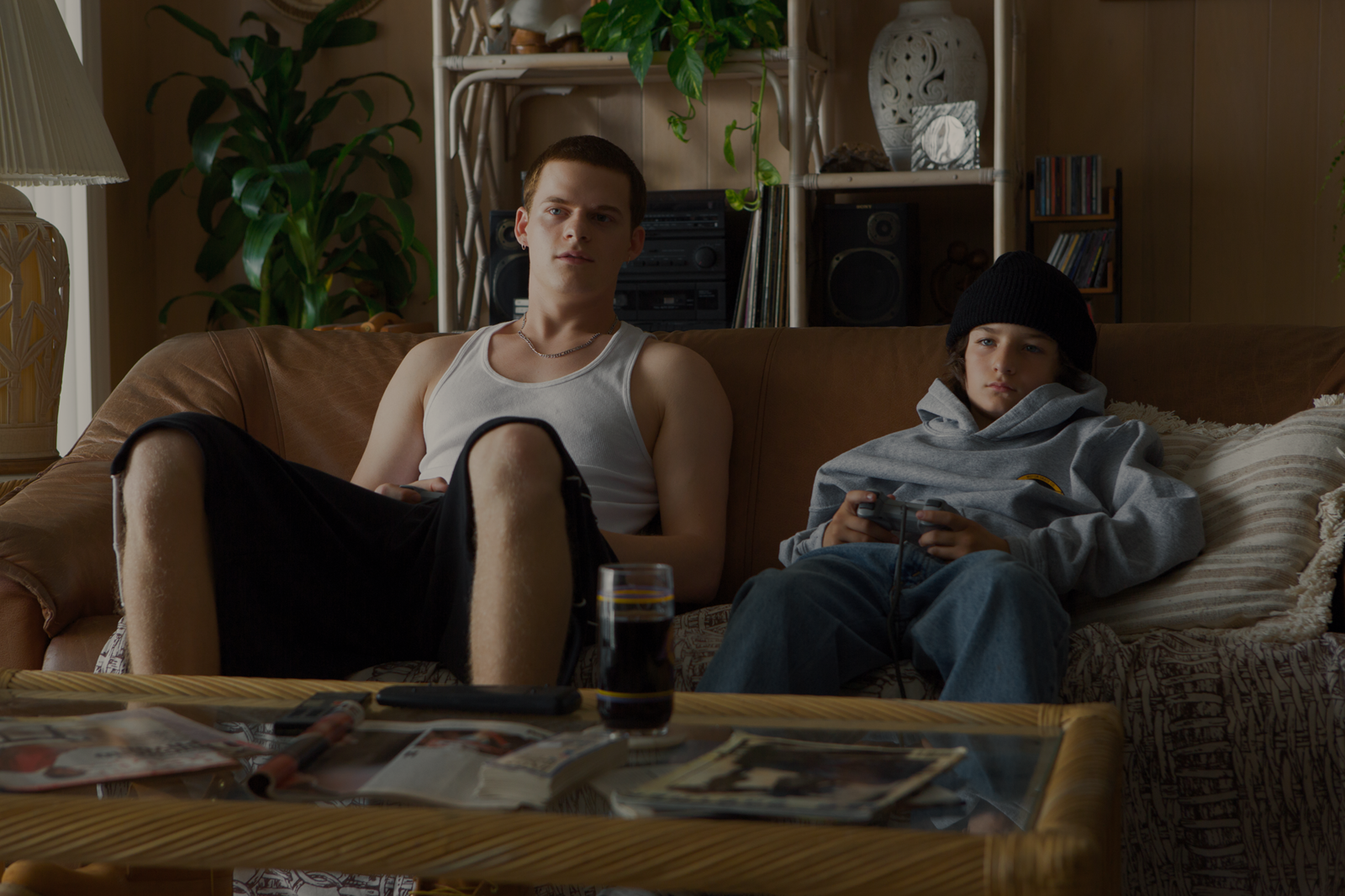 "Lucas Hedges and Sunny Suljic in ""Mid90s."" (Courtesy Tobin Yelland)"