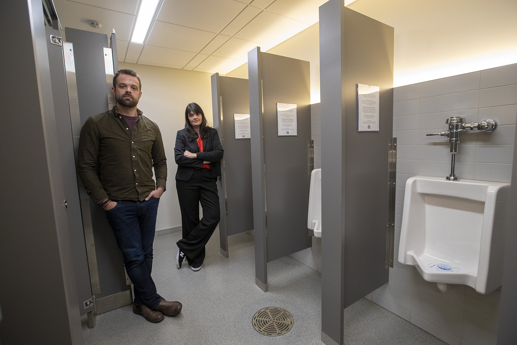 The american repertory theater has opened traditional mens and womens rooms for use by all