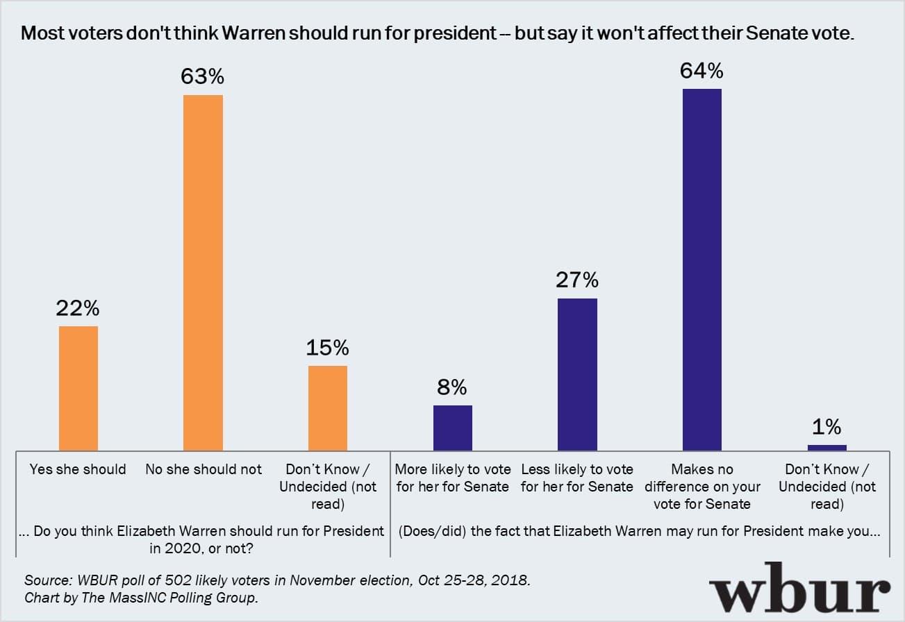 wbur poll warren keeps big lead as voters want a senator who will