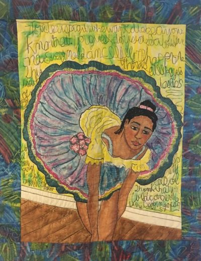 """Susan Thompson's """"Ballerina in Yellow and Blue Dress"""" (Courtesy)"""