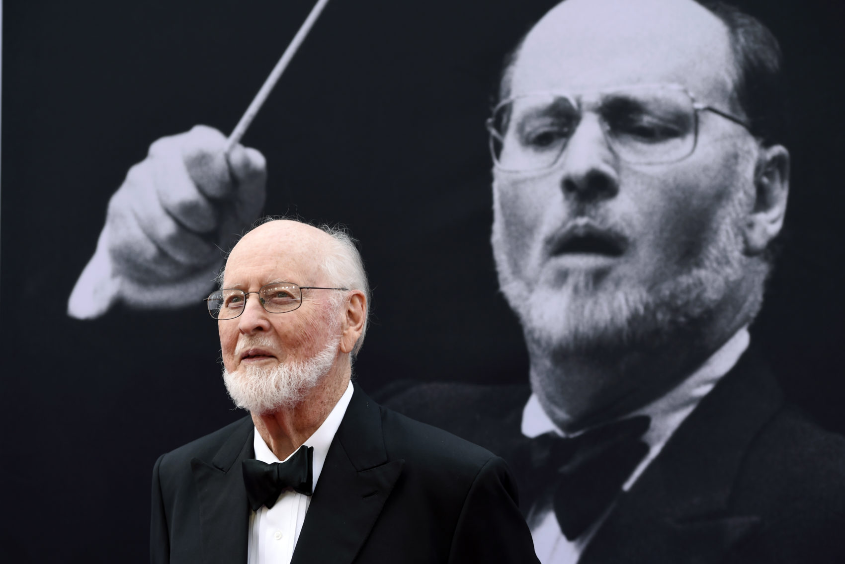 John Williams poses on the red carpet at the 2016 AFI Life Achievement Award Gala Tribute to himself at the Dolby Theatre in Los Angeles. (Chris Pizzello/Invision/AP)